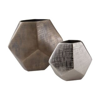 Dimond Home 178-028/S2 Faceted Cube Vases - Set of 2