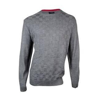 Geoffrey Beene Men's Weave Knit Crewneck Pullover|https://ak1.ostkcdn.com/images/products/is/images/direct/c0ba4044a33a53b6ae89ada64ed5223cc872f7f5/Geoffrey-Beene-Men%27s-Weave-Knit-Crewneck-Pullover.jpg?impolicy=medium