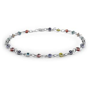 Bling Jewelry Multi Color Anklet Sterling Silver Evil Eye Ankle Bracelet 10in|https://ak1.ostkcdn.com/images/products/is/images/direct/c0ba743c443fa2407ccc43a8c949a51fbc2283c8/Bling-Jewelry-Multi-Color-Anklet-Sterling-Silver-Evil-Eye-Ankle-Bracelet-10in.jpg?impolicy=medium