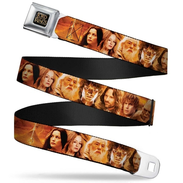 The Lord Of The Rings Full Color Black Gold Seatbelt Belt The Lord Of Seatbelt Belt