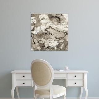 Easy Art Prints Alan Blaustein's 'La Mappa #2' Premium Canvas Art