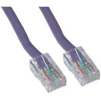 Cat5e Purple Ethernet Patch Cable  Bootless  50 foot