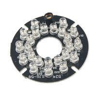 Unique Bargains Unique Bargains 5mm Red 24-LED Infrared Bulbs 80 Degree CCTV Security Camera IR Board