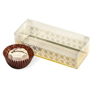 """Pack Of 25, 4 X 1.5 X 1"""" Solid Geneva Print Candy Box For 3 Large Truffles Wedding Favors"""