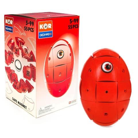 Geomag Kor Egg - Red - 55 Piece Creative Magnet Playset