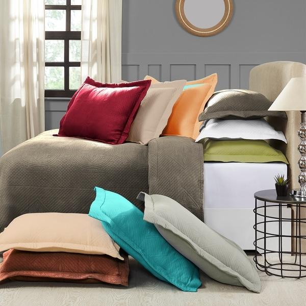 Miranda Haus Celtic Cotton Jacquard Bedspread Set with Pillow Shams. Opens flyout.