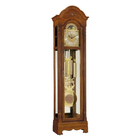 Ridgeway Kingsley Traditional, Elegant, Antique Design, Grandfather Style Chiming Floor Clock with Pendulum and Movements