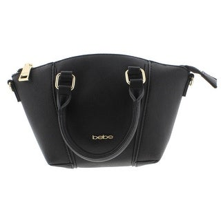 Bebe Womens Nadia Satchel Handbag Faux Leather Convertible - small