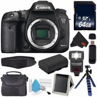 Canon Eos 7D Mark II Digital Camera 9128B002 + 64GB SDXC Card + LP-E6 Replacement Battery + Deluxe Cleaning Kit Bundle