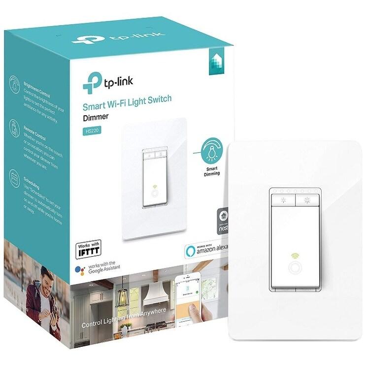 3 Pack Kit TP-LINK HS220 Smart Wi-Fi Light Switch, Dimmer (HS220)