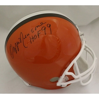 Ozzie Newsome Autographed Cleveland Browns Replica Helmet wHOF 99 JSA