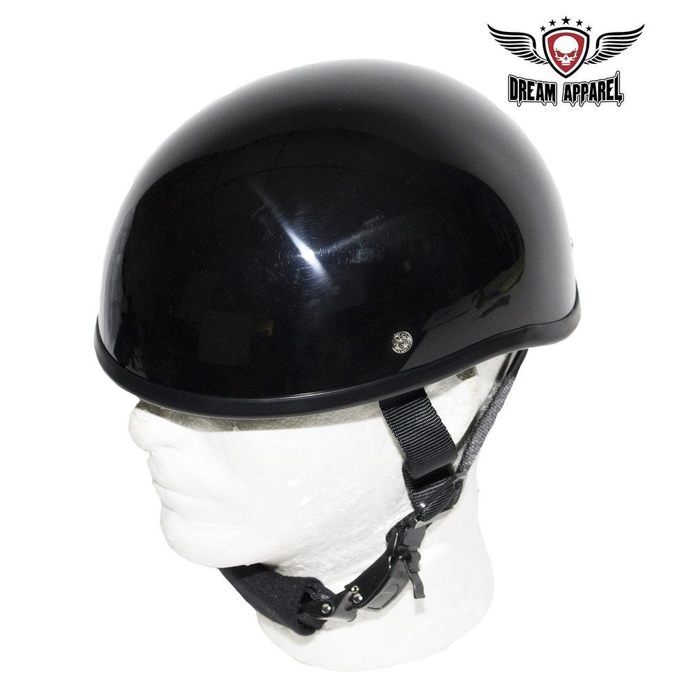 """55-56cm MOTOHelmets D22 /""""Creme/"""" /· Brain-Cap /· Halbschale Jet-Helm Motorrad-Helm Roller-Helm Retro /· Fiberglas Schnellverschluss SlimShell Tasche S"""