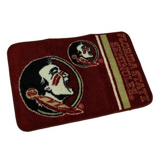 Officially Licensed Florida State Seminoles Non-Skid Throw Rug 20 x 30 inch - DARK RED