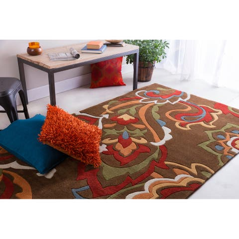 Hand-tufted Floral Contemporary Runner Area Rug