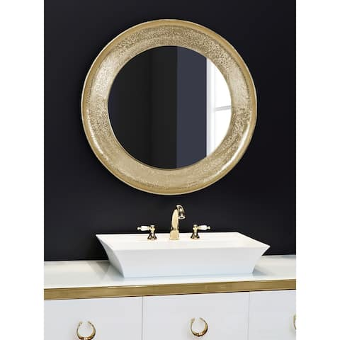 Kate and Laurel Xylon Metal Framed Wall Mirror