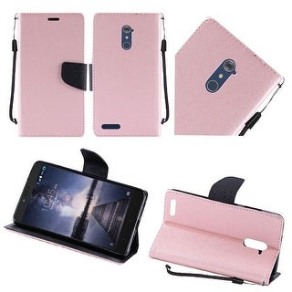 Insten Leather Case Cover Lanyard with Stand For ZTE Zmax Pro