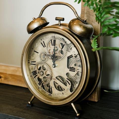 Yosemite Home Decor Gears Table Top Clock - 13 x 10 x 3
