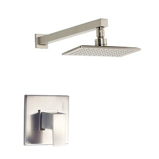 Danze D500562T  Pressure Balanced Shower Trim Package with Single Function Rain Shower Head From the Mid-Town Collection (Less