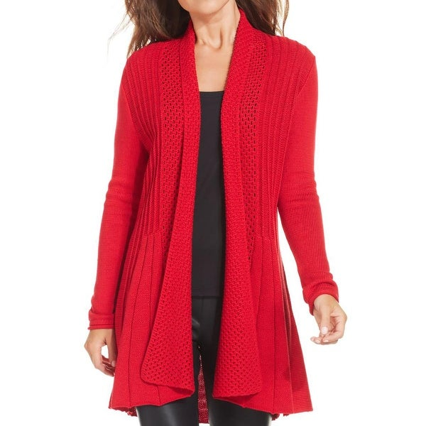 NY Collection Womens Cardigan Sweater Long Sleeves Open Front