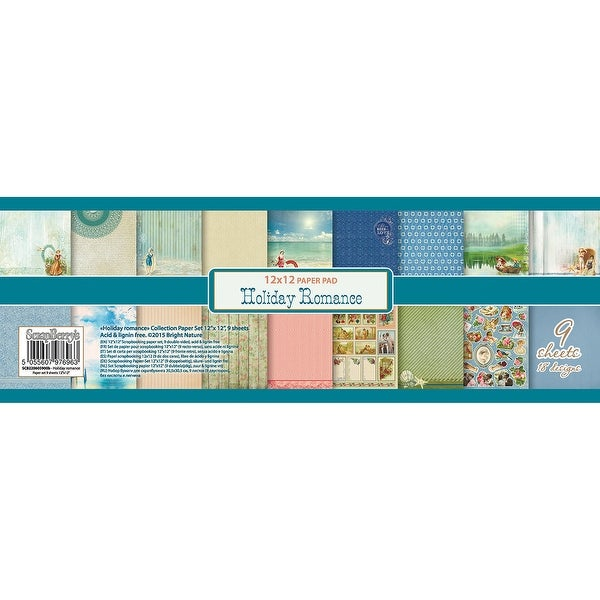 """Scrapberry's Holiday Romance Paper Pack 12""""X12"""" 9/Pkg-9 Double-Sided Designs/1 Each"""