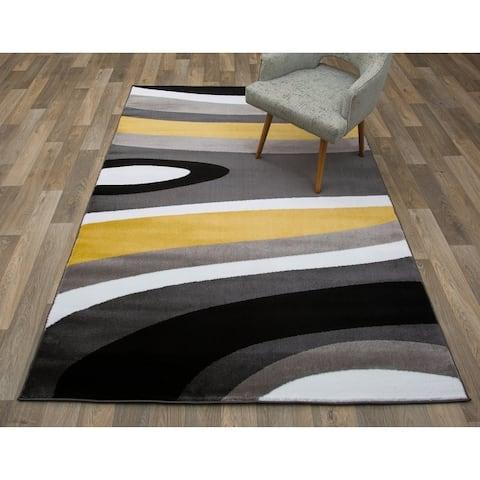 Abstract Contemporary Modern Area Rug