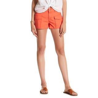Union Bay Coral Orange Womens Size 0 Four Pocket Cargo Shorts