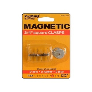 "ProMag Magnetic Clasps Sq Slvr 3/4"" 2pc"