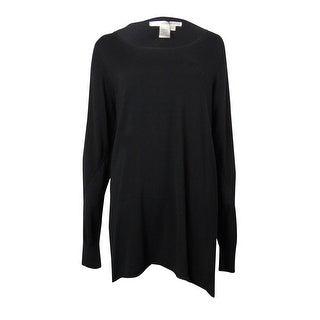Studio M Women's Pintuck Sleeve Knit Long Sweater