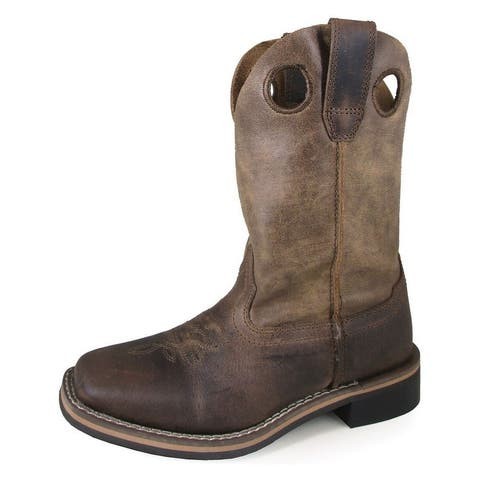 Smoky Mountain Western Boots Boys Waylon Pull On Brown Oil