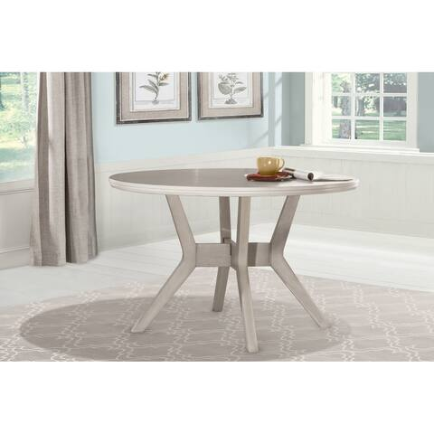 "Copper Grove Dalgopol Round White Dining Table - 48""x 48"" x 36"""