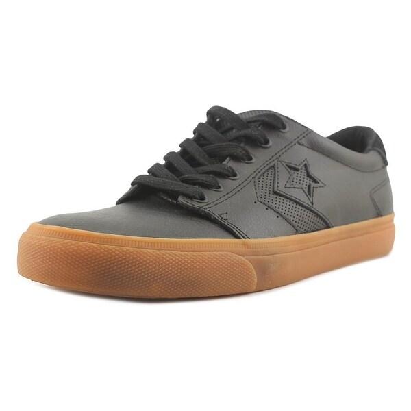 Converse KA3 Ox Men Round Toe Leather Black Sneakers