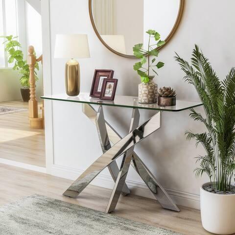 Furniture of America Dess Modern X-cross Sofa Table