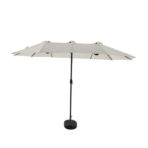 15' x9' .Rectangluar Market Patio Umbrella,waterproof with 12 ribs to