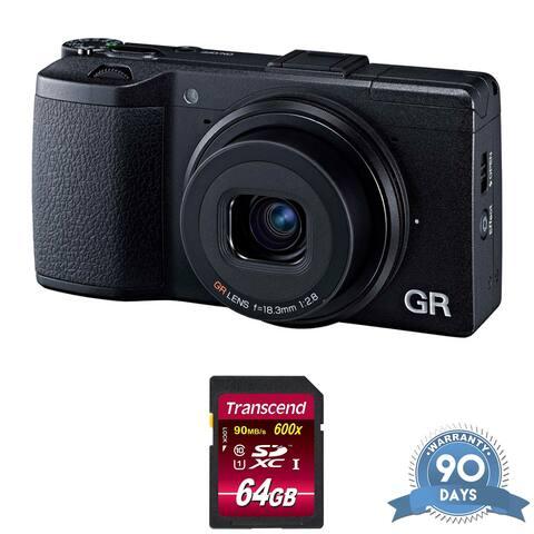 Ricoh GR II Digital Camera - with Memory Card -