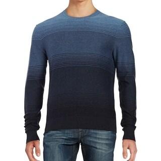 Michael Kors NEW Midnight Blue Mens Size XL Striped Crewneck Sweater
