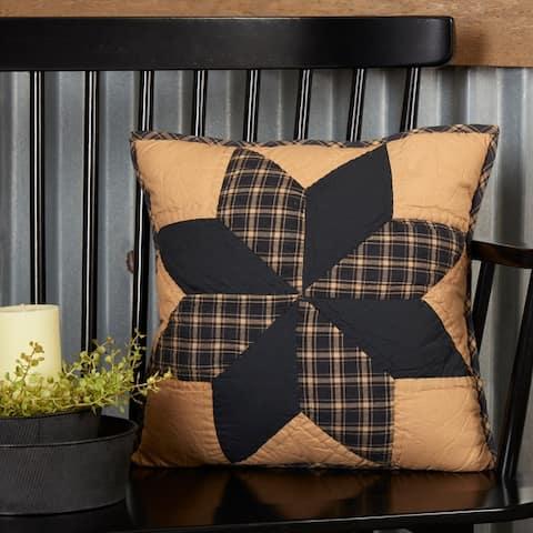 Dakota Star Quilted Pillow 16x16
