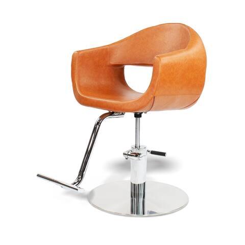 Salon Styling Chair MILLA Camel Brown Beauty Salon Hair Studio Furniture