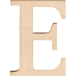 "Wood Letters & Numbers 1.5"" 2/Pkg-E"