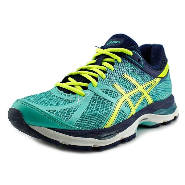 Asics Gel-Cumulus 17 Women Aqua Mint/Flash Yellow/Navy Running Shoes