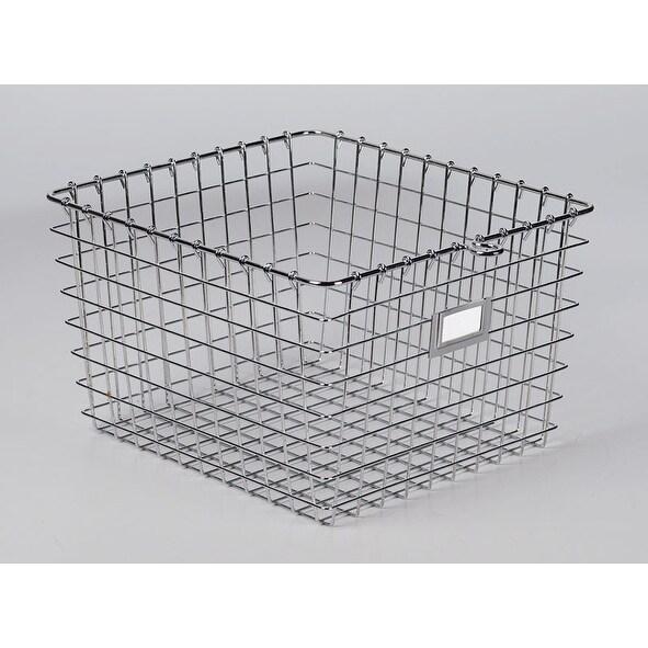 "Spectrum 47970 Medium Storage Basket, 13-3/4"" x 11-7/8"" x 8"", Chrome"