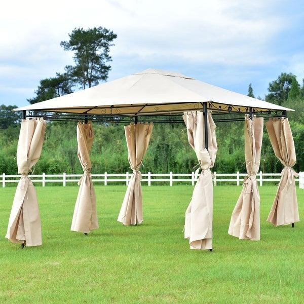 Shop Costway Outdoor 10 X13 Gazebo Canopy Shelter Patio