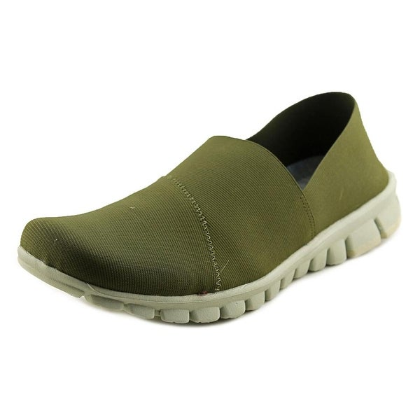 NoSox Stretch Men Round Toe Synthetic Green Loafer