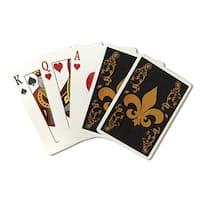 Flourish & Fleur de Lis - Gold - LP Artwork (Poker Playing Cards Deck)