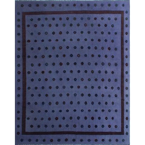 """Noori Rug High-Low Corliss Purple/Brown Rug - 9'5"""" x 11'4"""""""