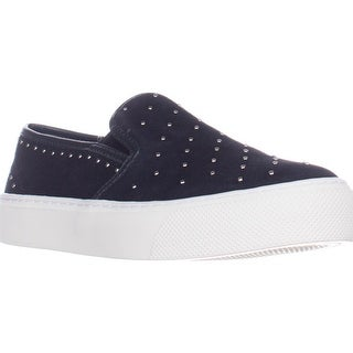 Coach Cameron Logo Fashion Sneakers, Midnight Navy