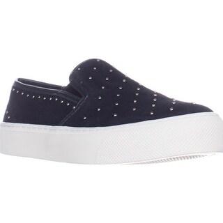 Coach Cameron Logo Fashion Sneakers, Midnight Navy