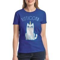 Kitticorn Cat Unicorn Cool Women's Royal Blue T-shirt