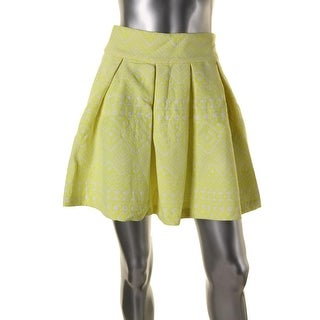 Parker Womens Pattern Above Knee Pleated Skirt