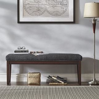 Link to Gracewood Hollow Lessing Upholstered Espresso-finished Bench Similar Items in Living Room Furniture