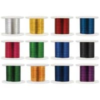 Assorted Colors - Metallic Beading & Jewelry Wire 26 Gauge 108' 12/Pkg